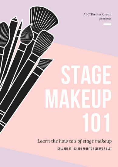 Black and Yellow Modern Beauty Makeup Poster  Templates by Canva