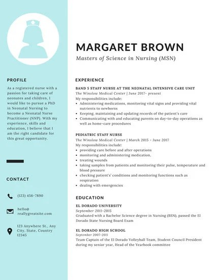 Blue Sidebar Scholarship Resume  Templates by Canva
