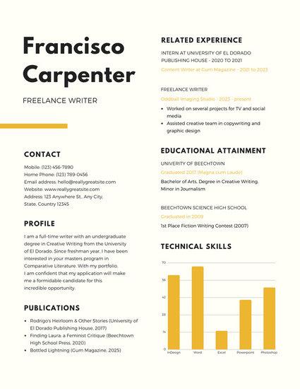 94 Resume Template Design Scholarship Customize 32