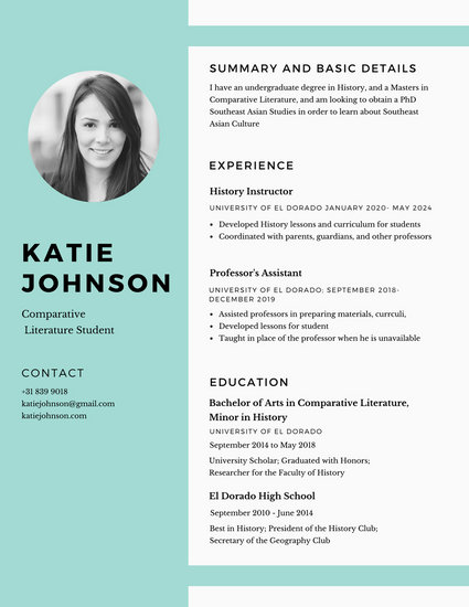 Customize 527 Simple Resume templates online  Canva
