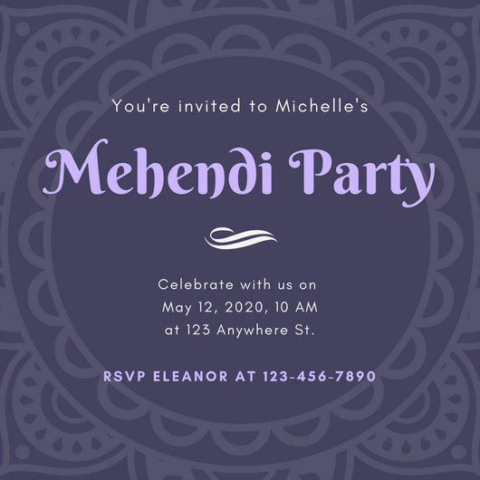 Customize 23 Mehendi Invitation Templates Online Canva