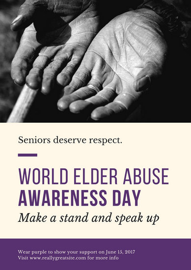 Customize 38 World Elder Abuse Awareness Day Poster