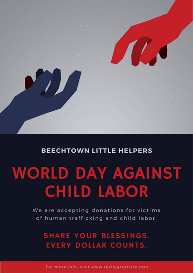 Poverty Wallpapers With Quotes Customize 29 World Day Against Child Labour Poster
