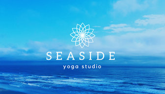 Blue Seaside Yoga Business Card  Templates by Canva