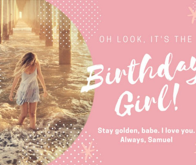 Pink And White Girlfriend Birthday Card