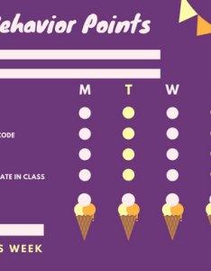 Violet ice cream primary school behavior reward chart also templates by rh canva