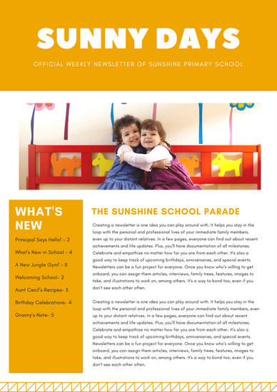 Customize 342 School Newsletter Templates Online Canva