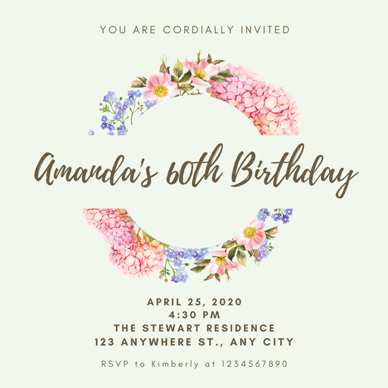 birthday invitations printable template