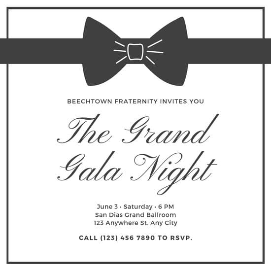 Charcoal & Gold Elegant Masculine Black Tie Event