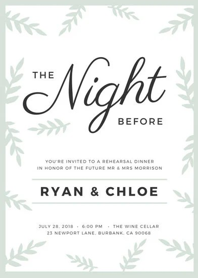Customize 411+ Rehearsal Dinner Invitation templates