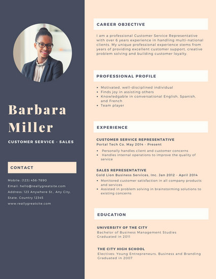 Customize 925 Resume Templates Online Canva