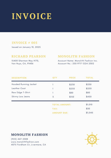 Cream Formal Minimalist Commercial Invoice - Templates by Canva