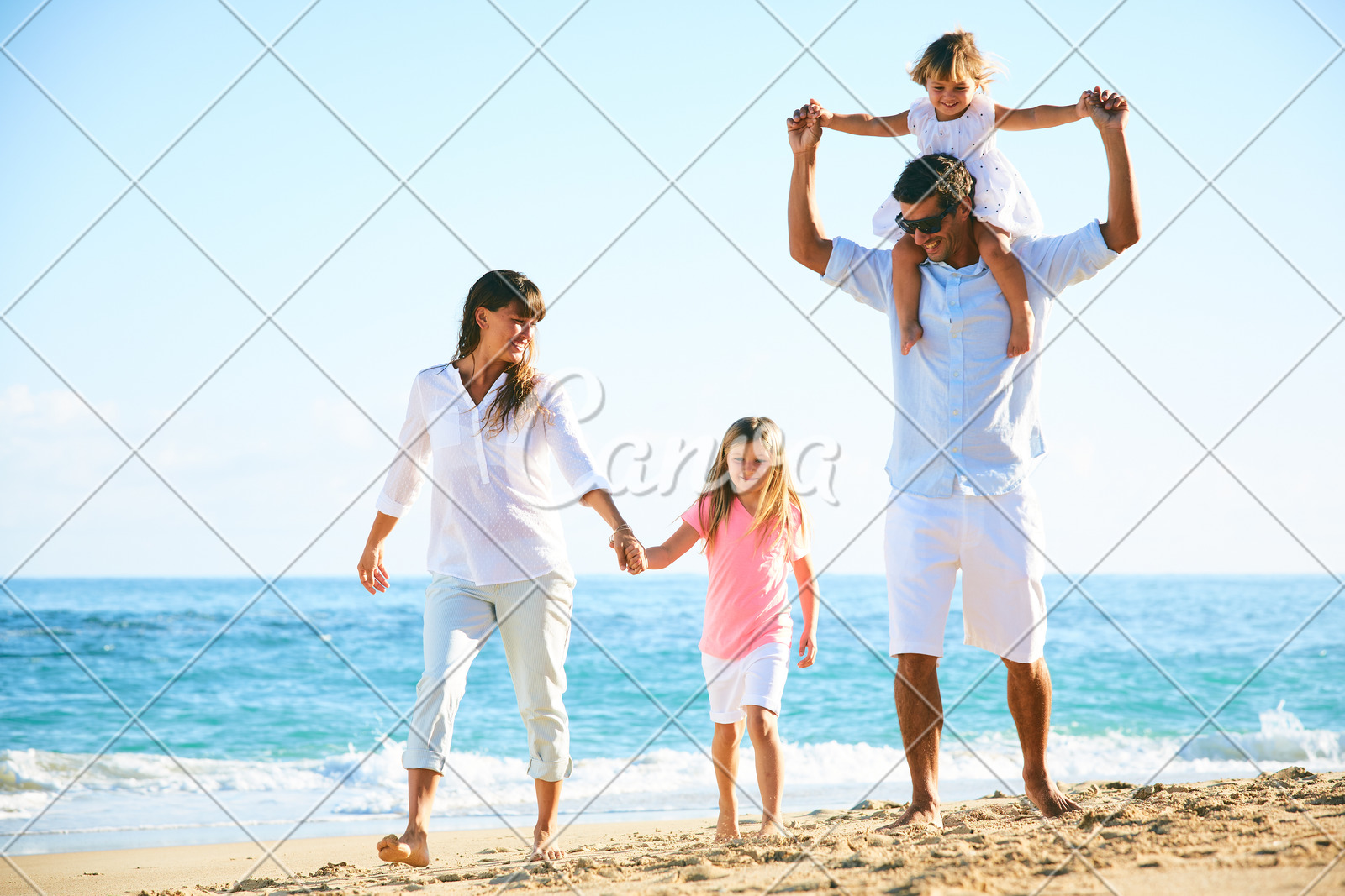 happy family on the