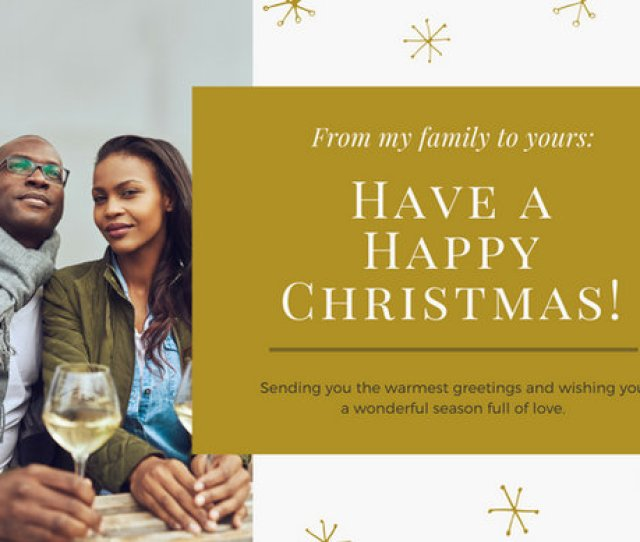 Gold Couple Christmas Card