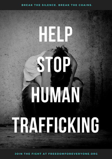 Poverty Wallpapers With Quotes Customize 84 Human Trafficking Poster Templates Online