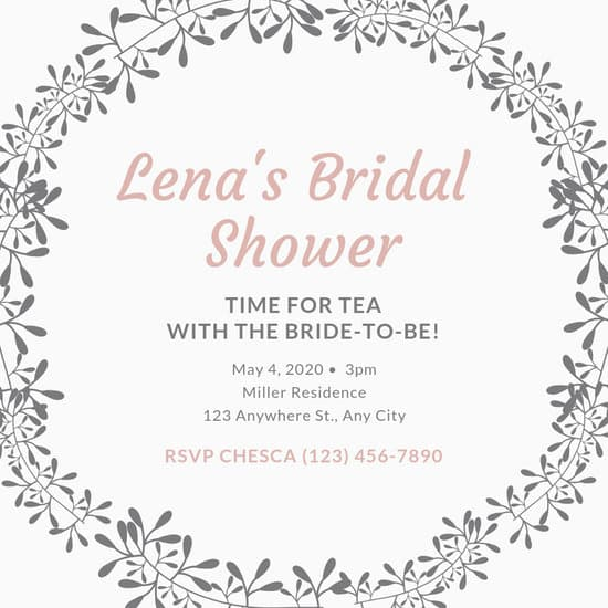 Customize 454+ Bridal Shower Invitation templates online