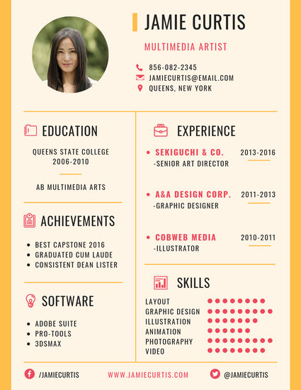 fine art resume sample