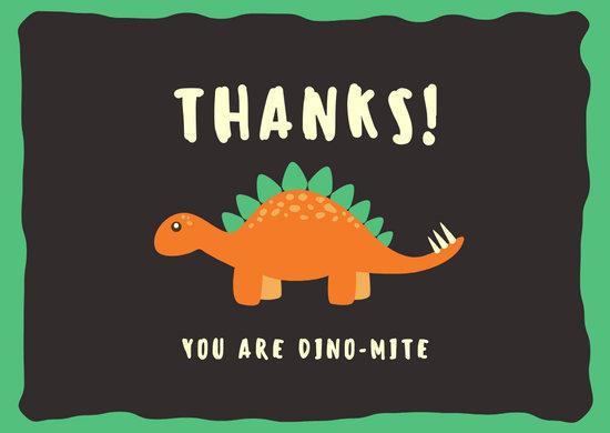 green thank you dinosaur