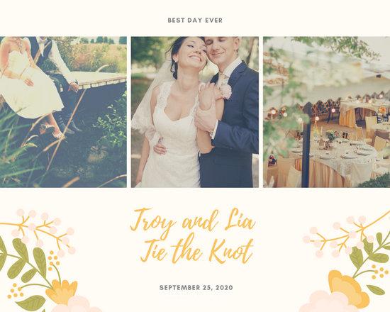 floral wedding banner facebook