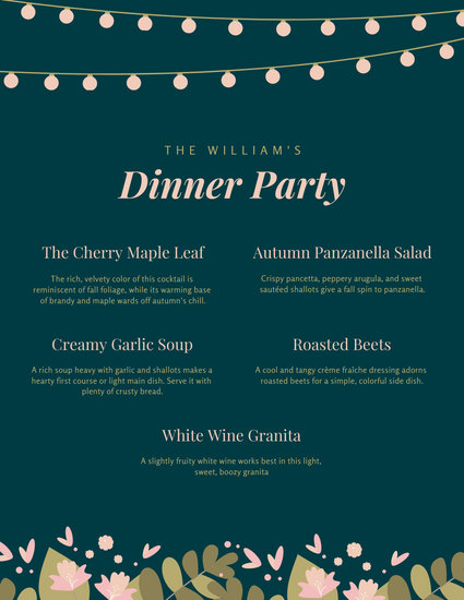 customize 194 dinner party