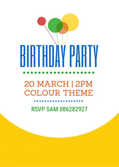 how to make birthday flyers