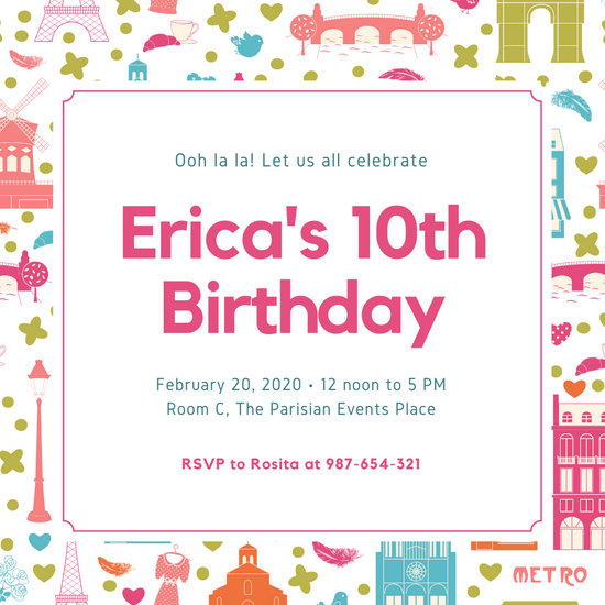 customize 6 180 invitation