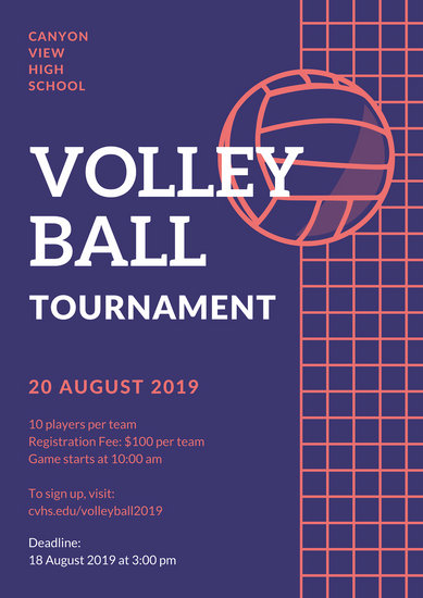Customize 26 Volleyball Poster templates online  Canva