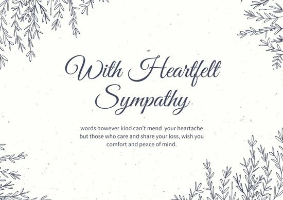 Customize 112 Sympathy Card templates online  Canva