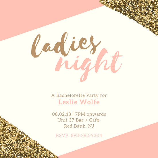 pink gold bachelorette party