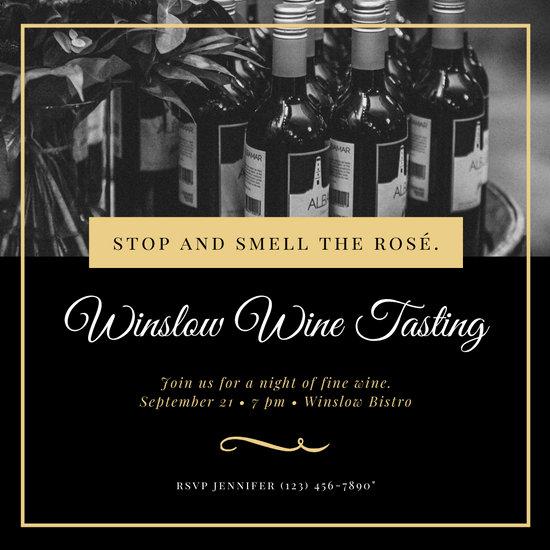 Customize 86 Wine Tasting Invitation templates online  Canva