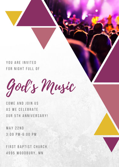 Customize 53 Church Invitation templates online  Canva