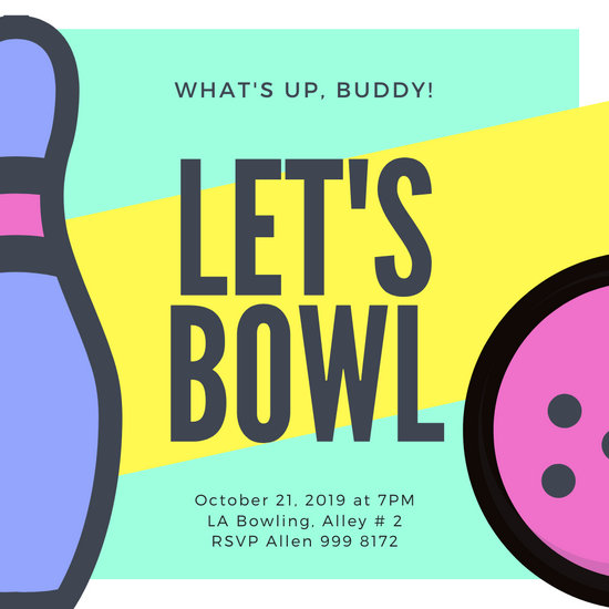 customize 75 bowling invitation