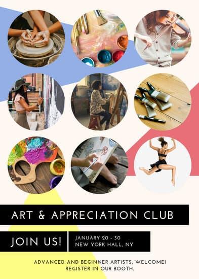 recruitment art club flyer