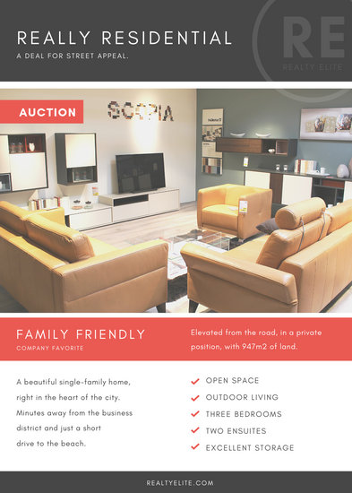 Customize 81 Real Estate Flyer templates online  Canva