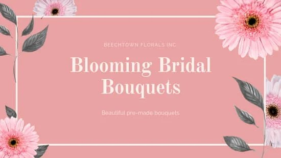 pink blooming bridal bouquets