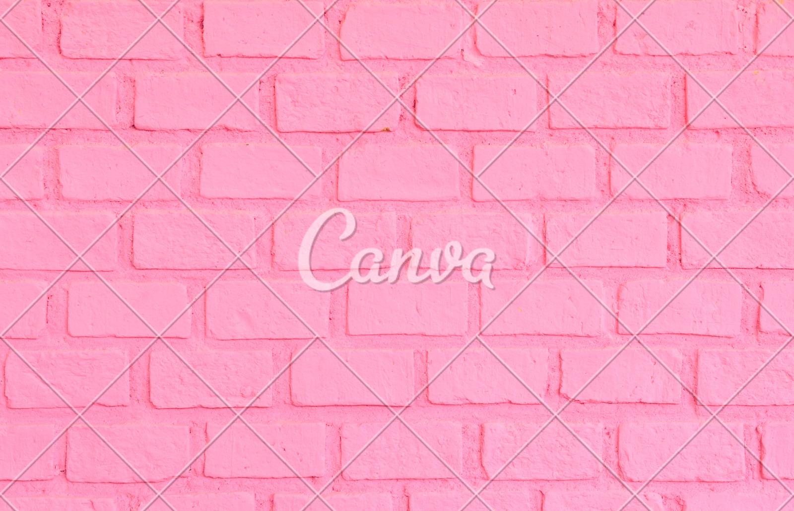 pink brick wall photos