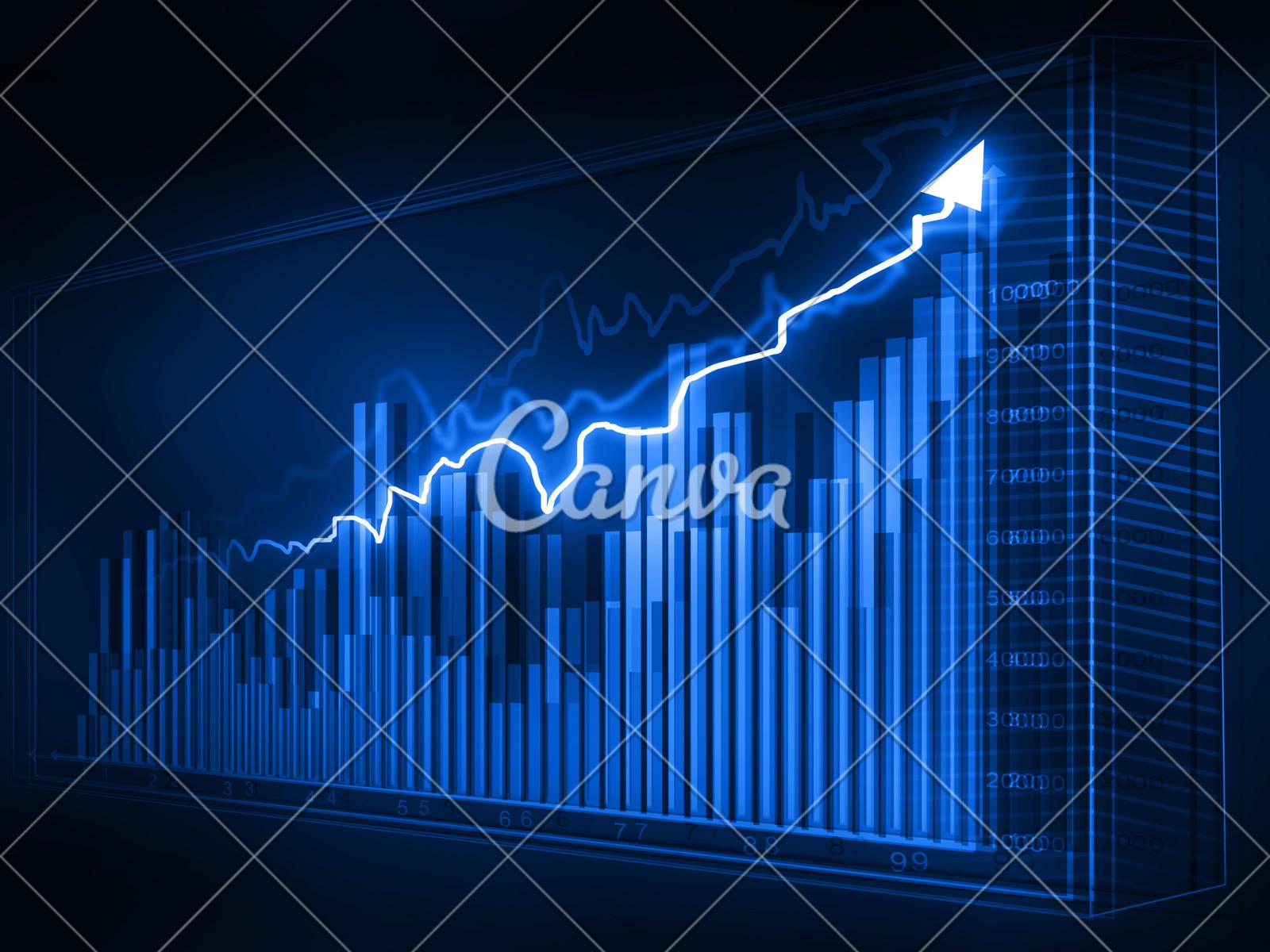 stock market graphs business