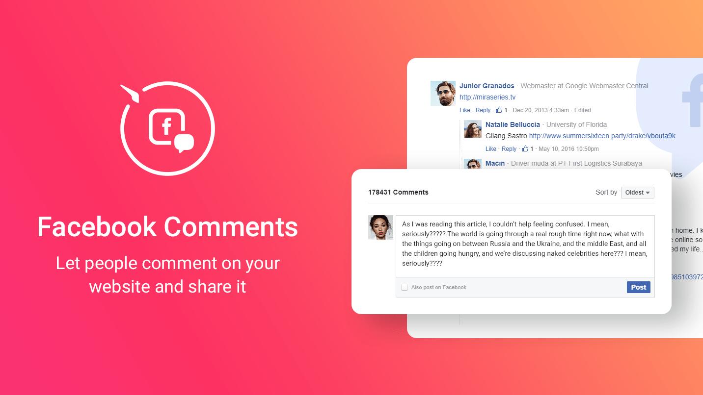 facebook comments post comments