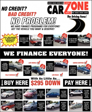 We Finance Everyone : finance, everyone, Finance, Everyone!,, Carzone