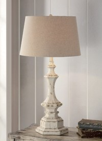 Shabby Cottage Chic Table Lamp French Country Distress ...