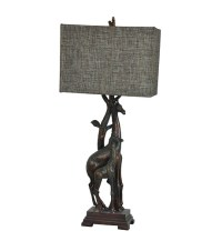 "Giraffe Table Lamp Africa Safari Jungle Animal 32.5""H"