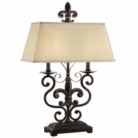 Fleur De Lis Table Lamp Old World Tuscan French Country ...