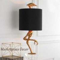 "Ibis Table Lamp Heron Crane Bird Whimsical Table Lamp 35""H"