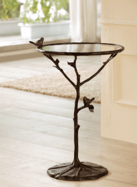 Bird On Branch Accent Side Table Tree Base Metal ~ SPI ...