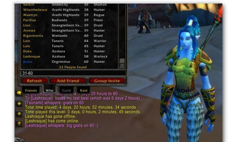 Joanas 1-60 Classic Wow Leveling Guides