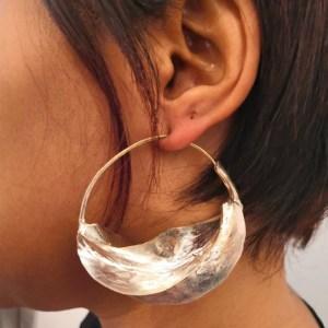 boucles d'oreille fulani argentée