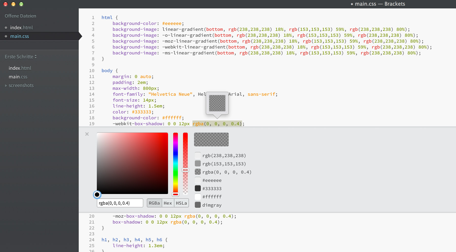 Color picker online rgba -  Der Colorpicker Im Quick Edit Einer Css Datei