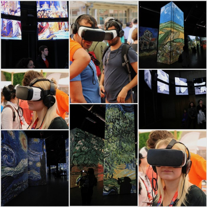 Virtual reality immersive exhibition