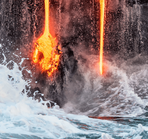 flowing lava and water showing flow of lead generation plans