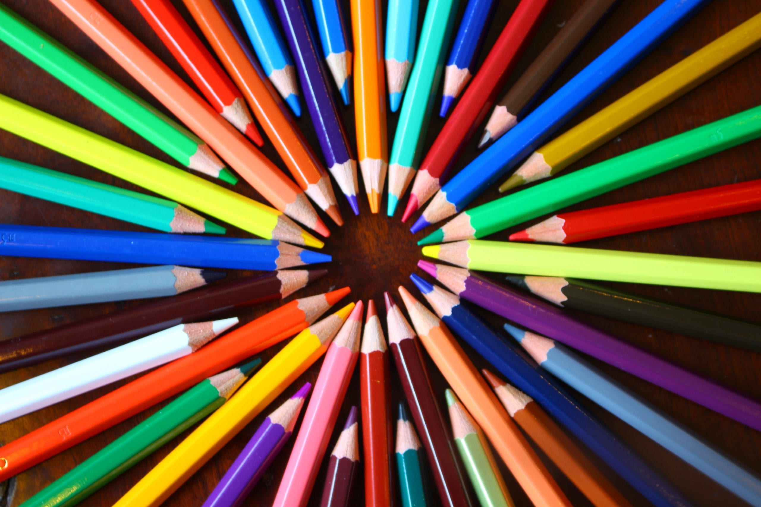 assortment of colored pencils - marketing department blog hero image